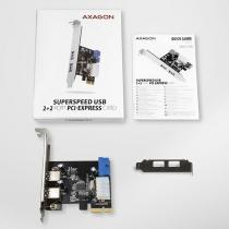 AXAGON PCEU-232VL SuperSpeed USB 2+2 Port PCI-Express Card